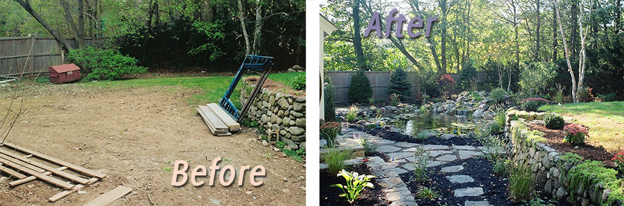 Water Gardens, Before & After #3